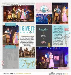 Happily Ever After Disney Project Life layout using Project Mouse: Beginnings Kit and Journal Cards by Sahlin Studio and Britt-ish Designs