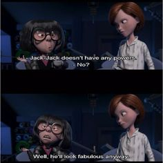 Edna knows that fashion comes first.  #Disney  #Pixar  #TheIncredibles