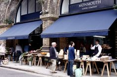 I'm not really a coffee drinker but even I can't resist a flat white from Monmouth coffee. Don't be discouraged by the long queue, service is fast and coffee is worth the wait :)