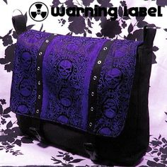 Gothic Skulls Laptop Messenger Bag