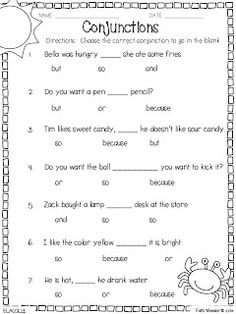 Worksheet Conjunction Worksheets 4th Grade worksheets on pinterest conjunction freebies