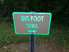 Isnt that creepy? We didnt find Bigfoot on that trail, sadly...