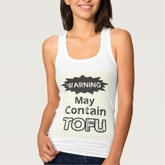 Funny Tofu Womens Slim Fit Racerback Tank Top Tank Tops