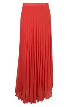 Pleated Chiffon Skirt by Rare** - Topshop USA - StyleSays