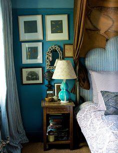 John Robshaw's bedroom in Matchbook Mag