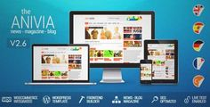 Download and review of Anivia - News, Magazine, Blog Wordpress Templates, one of the best Themeforest Magazine & Blogs themes