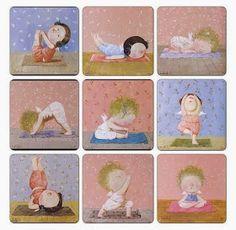 Yoga and Ecology Yoga Humor, Yoga Sequences, Yoga Poses, Pilates, Chico Yoga, Frases Yoga, Yoga Cartoon, Yoga Illustration, Baby Yoga