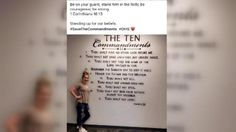 O'DONNELL, Texas- A battle over an issue concerning the separation of church and state is brewing inside of a high school in Texas.  A newly added common area of O'Donnell High School contains a painting of the Ten Commandments and some Bible verses.