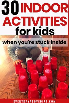 Indoor Toddler Activities - Easy indoor activities are great for those days when you're stuck inside or on rainy and snowy da - Physical Activities For Toddlers, Preschool Learning Activities, Indoor Activities For Kids, Games For Toddlers, Infant Activities, Family Activities, Easy Games For Kids, Movement Activities, Kids Fun