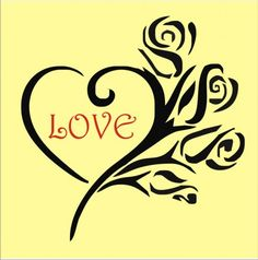 Love and roses. I love this for my family photo wall. Heart Stencil, My Family Photo, Romance, Art N Craft, Flower Of Life, Stencil Designs, Paper Cutting, Cut Paper, Love