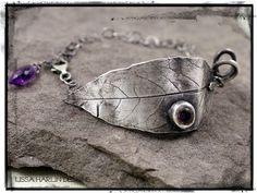 Fine silver wisteria leaf bracelet www.lissaharlindesigns.com