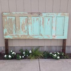 Old Door turned into a Headboard!