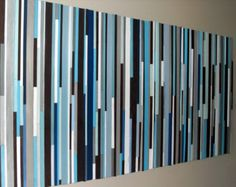 Wood Wall Art Wood Art Reclaimed Wood Wall Art Stripes