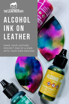 Oct 2019 - The best type of paint for leather is a water-based acrylic paint. We highly recommend Angelus Acrylic Leather Paint! It is made to bend and flex without cracking and peeling. Plus, it comes in so many great colors. Leather Purse Diy, Diy Leather Earrings, Leather Jewelry, How To Paint Leather, Diy Leather Paint, Alcohol Ink Jewelry, Alcohol Ink Crafts, Alcohol Inks, Diy Leather Projects