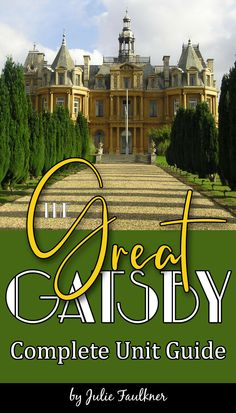 This low prep, standards-based, complete The Great Gatsby unit plan is designed to take your students through The Great Gatsby in a way that the novel comes alive. Various other interactive, hands-on, and creative activities will provide you with many ways to engage your students in this The Great Gatsby five/six-week literature guide. All the basics are here, too: standards, daily pacing guide, reading quizzes, grammar worksheets, short prompts, vocabulary, final exam, and final projects.