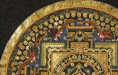 OM (AUM) Dorje Mandala with the Syllable OM MANI PADME HUM