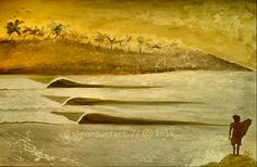 Surf paintings. Lefts. Acrílico. 80x60 .
