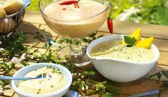 Was ist ein Grillabend ohne gute Saucen? Die cremige Aioli kannst du in nur 15 min mit Knoblauch, etwas Pfeffer, einem Schuss Zitronensaft und der THOMY Delikatess-Mayonnaise zubereiten.