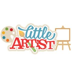 {Daily FREE Cut File} Little Artist Title - Available for FREE today only, Aug 9