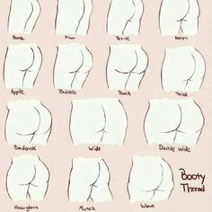 The BOOTY chart! Ladies which one do u have, which one do u want? Fellas, which one do like?