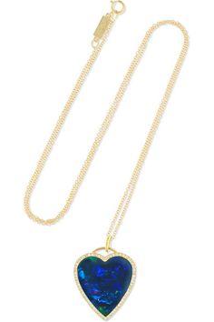 Jennifer Meyer - Heart gold, opal and diamond necklace Heart Shaped Necklace, Jennifer Meyer, Personal Shopping, Heart Of Gold, Shopping Bag, Diamond Cuts, Opal, Pendants, Pendant Necklace