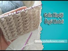 Gelin Kirpiği Örgü Modeli Knitting Videos, Knitting Stitches, Knitting Patterns, Crochet Patterns, Popular Ads, Knit Crochet, Crochet Hats, Diy And Crafts, Youtube