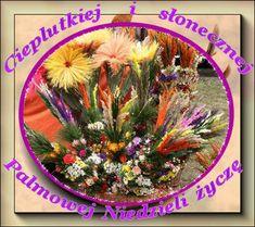 Palmy i ciepłe pozdrowienia na Niedzielę Palmową - Gify i obrazki na GifyAgusi.pl Decorative Plates, Table Decorations, Dinner Table Decorations, Center Pieces
