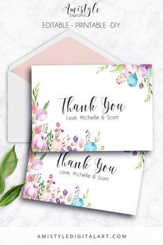 142 best thank you card images on pinterest in 2018 printable thank you card floral editable pdf thank you card printable cards wedding thank you greeting cardsthank you notesprintable thank you m4hsunfo