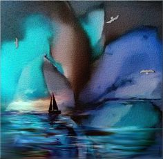 BLUE SHADE - Arte digital ©2016 por L-ROCHE -                                        Arte figurativo, Agua
