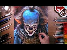 Drawing Pennywise the Dancing Clown | drawholic - YouTube