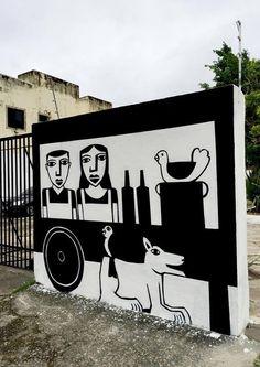 Artista faz mistura de graffiti com xilogravura | O Beijo
