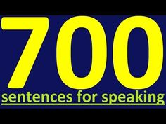 700 ENGLISH SENTENCES - ENGLISH SPEAKING PRACTICE. HOW TO LEARN ENGLISH SPEAKING EASILY - YouTube
