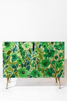 Amy Sia Isla Floral Green Credenza   DENY Designs Home Accessories