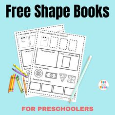 Do you need a simple activity to help kids practice counting and number recognition? This free printable book of shapes features 5 different shapes to help beginners start to recognize shapes. Shape Worksheets For Preschool, 2d Shapes Activities, Educational Activities For Toddlers, Teaching Shapes, Free Preschool, Preschool Themes, Free Math, Preschool Class, Preschool Letters