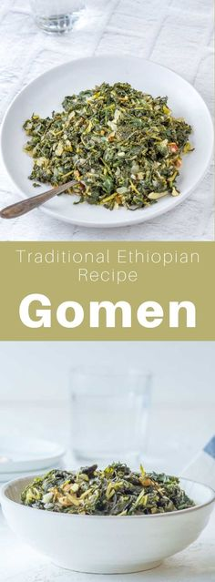 Gomen, ye'abasha gomen or abesha gomen, is a spicy dish prepared with green leafy vegetables in Ethiopian cuisine, and traditionally with green cabbage. #ethiopia #ethiopianfood #ethiopianrecipe #ethiopiancuisine #worldcuisine #196flavors Diet Recipes, Vegetarian Recipes, Healthy Recipes, Ethiopian Cuisine, Spicy Dishes, Green Cabbage, Fusion Food, International Recipes, Other Recipes