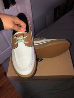 d7ff632736 Sperry Top-Sider Bahama II Boat Khaki  White Loafers 00583340 Men s US 9.5M