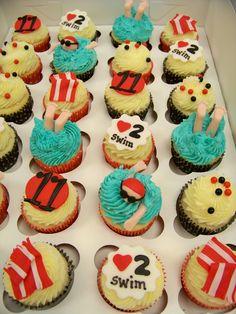 Swim Team Cupcakes  on Cake Central