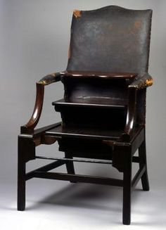 leather upholstered library ladder chair  (belonging to the famed Ben Franklin) love you ben <3