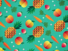 Fresh ingredients pattern... hoping to use throughout a new rebranding project.