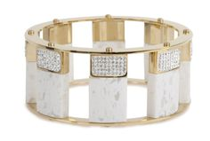 Pave Tall Stackable Bangle, White by Lele Sadoughi | Charm & Chain