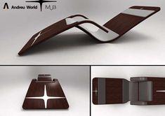 Futuristic Sun Loungers : MUB eslide deck chair Modern Wood Furniture, Home Decor Furniture, Furniture Design, Deck Chairs, Wooden Chairs, Bathroom Tile Designs, Comfortable Sofa, Tool Design, Design Ideas