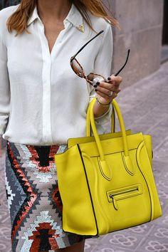 Bolsa amarela... Amo