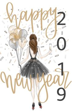 All the best wishes for the new year💖 Decoration Noel, New Year Illustration, Special Text, Special Images, Happy New Year Wallpaper, Happy New Year Images, Happy New Year 2019, New Year Wishes, New Year Greetings