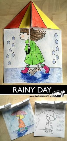 RAINY DAY The Effective Pictures We Offer You About edible Spring Crafts For Kids A quality picture can tell you many things. You can find. Weather Crafts, Rainy Day Crafts, Spring Crafts For Kids, Diy Crafts For Kids, Fall Crafts, Craft Ideas, Mandala Halloween, Drawing For Kids, Art For Kids