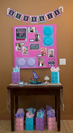 Table from a Girl Themed Lego Party via Kara's Party Ideas | KarasPartyIdeas.com (27)