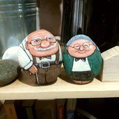 สวัสดีวันฝนพรำนะจ้ะ^^ #stonepainting #painting #stone for #gifts #art #handmade