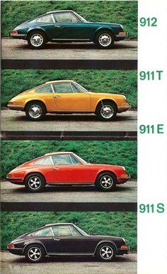 First generation Porsche 911 model range.