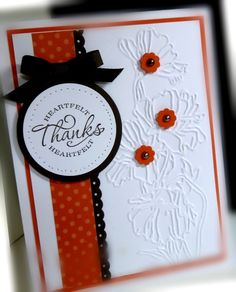 handmade card .... white card with red & black adornments ... clean, balanced look ... luv it!!