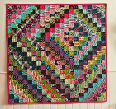 scrappy trip quilt using Pretty Potent and Ansonia