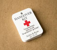 Image result for homemade hangover kit